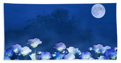 Cornflowers In The Moonlight Bath Towel