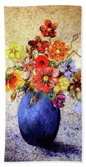 Cornucopia-still Life Painting By V.kelly Bath Towel