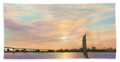 Coronado Bridge Sunset  B Bath Towel