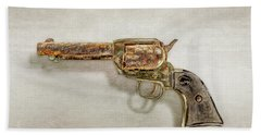 Hand Towel featuring the photograph Corroded Peacemaker by YoPedro