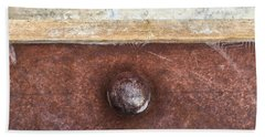 Corten And Concrete Hand Towel by Stan  Magnan