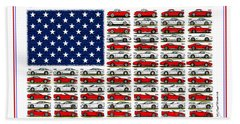 Corvette Americana Bath Towel