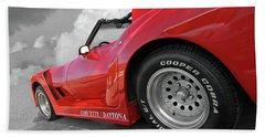 Hand Towel featuring the photograph Corvette Daytona by Gill Billington