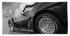 Hand Towel featuring the photograph Corvette Daytona In Black And White by Gill Billington