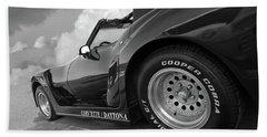 Corvette Daytona In Black And White Hand Towel by Gill Billington