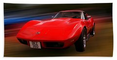 Corvette Stingray Bath Towel