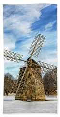 Hand Towel featuring the photograph Corwith Windmill Long Island Ny Cii by Susan Candelario