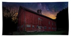 Bath Towel featuring the photograph Cosmic Barn by Bill Wakeley