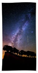 Hand Towel featuring the photograph Cosmic Caprock by Stephen Stookey