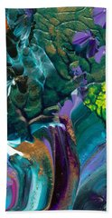 Cosmic Feathered Webbed Universe Hand Towel