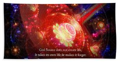 Bath Towel featuring the mixed media Cosmic Inspiration God Source 2 by Shawn Dall