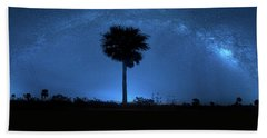 Hand Towel featuring the photograph Cosmic Night by Mark Andrew Thomas