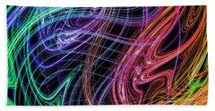 Cosmic Radiation Bath Towel by Mark Blauhoefer