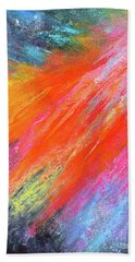 Cosmic Soiree De Colores - Abstract Painting Bath Towel
