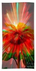 Cosmic Sunflower Hand Towel