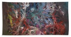 Hand Towel featuring the painting Cosmic Web by Michael Lucarelli