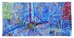 Hand Towel featuring the painting Cosmodrome by Dominic Piperata