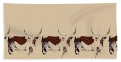 Hand Towel featuring the tapestry - textile Cosmopolitan Watusi by Amanda Smith