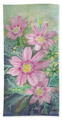 Cosmos - Painting Hand Towel by Veronica Rickard