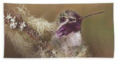 Costas Hummingbird Painted Bath Towel