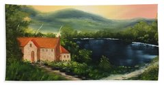 Cottage By Lake Hand Towel