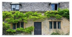 Bath Towel featuring the photograph Cotswolds Cottage Home II by Brian Jannsen