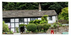 Traditional Cheshire Cottage At The Crossroad Hand Towel