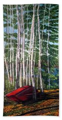 Cottage Country Hand Towel by Marilyn McNish