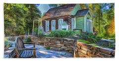 Bath Towel featuring the painting Cottage by Harry Warrick