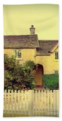 Cottage With A Picket Fence Bath Towel by Jill Battaglia