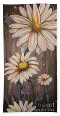 Cotton Candy Daisies Bath Towel