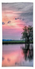 Cotton Candy Sunrise Hand Towel