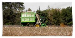 Cotton Picker Hand Towel by Donna Brown