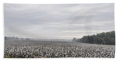 Bath Towel featuring the photograph Cotton Under The Mist by Jan Amiss Photography