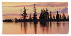 Cottonwood Sunset Lake Reflections  Hand Towel