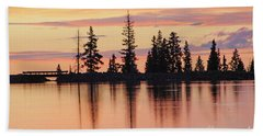 Cottonwood Sunset Lake Reflections  Bath Towel