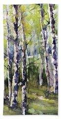Cottonwoods And Sycamores Bath Towel