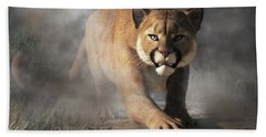 Cougar Is Gonna Get You Hand Towel by Daniel Eskridge