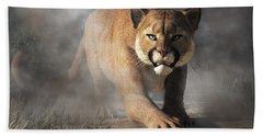 Bath Towel featuring the digital art Cougar Is Gonna Get You by Daniel Eskridge