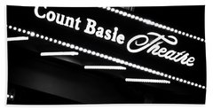 Count Basie Theatre In Lights Bath Towel