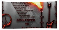 Count Down To Extinction Hand Towel