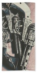 Country And Western Pistols Bath Towel