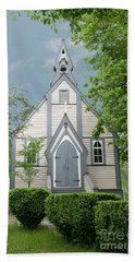 Country Church Hand Towel by Rod Wiens