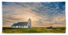 Country Church Sunrise Hand Towel