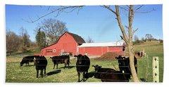 Country Cows Bath Towel