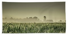 Country Farm Landscape Bath Towel