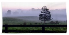 Country Morning Fog Hand Towel