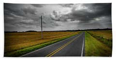 Hand Towel featuring the photograph Country Road by Brian Jones