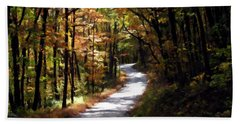 Hand Towel featuring the photograph Country Road by David Dehner