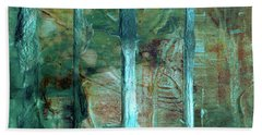 Country Roads - Abstract Landscape Painting Bath Towel